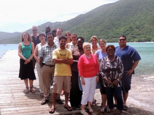 workshop attendees pose in the U.S. Virgin Islands