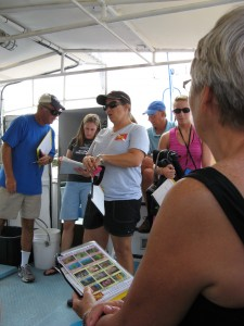 Divers learn how ID marine flora and fauna before diving on NC shipwreck, Indra.
