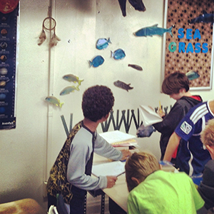 elementary students learn about coral reefs