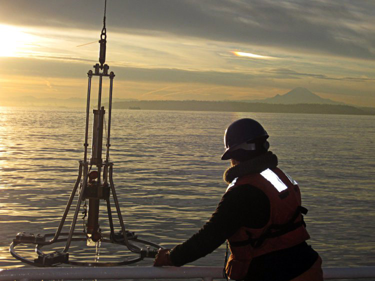 NOS-sponsored scientists map HAB cyst hotspots in picturesque Puget Sound. (credit: Vera Trainer, NOAA)