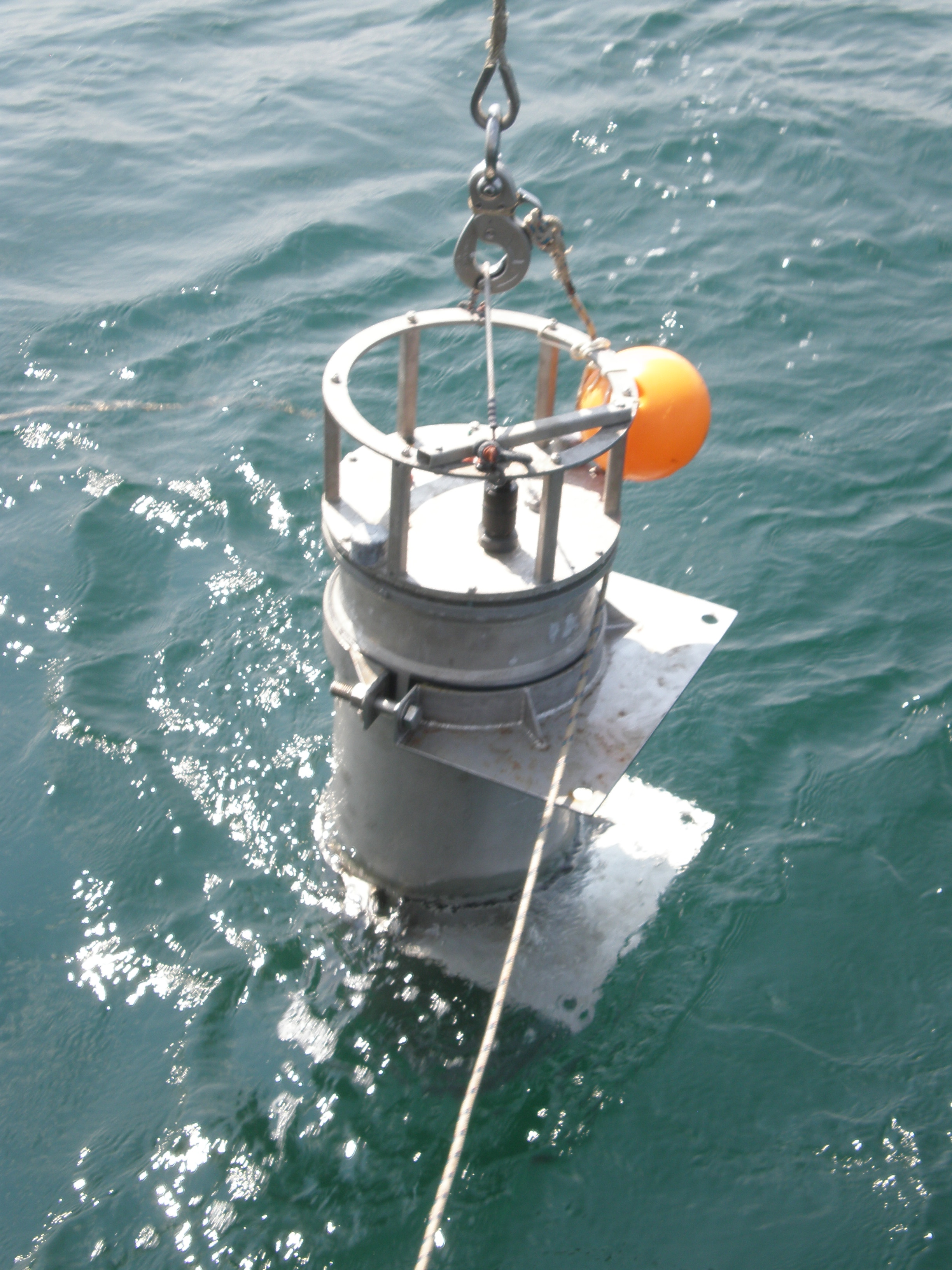 The Imaging FlowCytobot is an automated underwater microscope that produces high-resolution micrographs of particles suspended in the water. Credit: McLane Research Laboratories