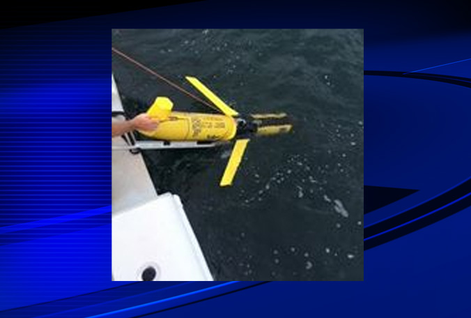 Mote Marine Laboratory and University of South Florida deployed their two underwater robots, Waldo and Bass, on Friday, Aug. 1 to survey the offshore red tide bloom. (Photo: Mote Marine Laboratory)