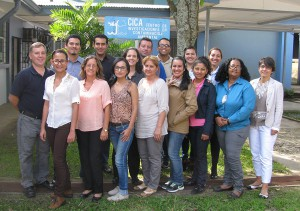 Participants of the November 2014 Advanced Regional Training Course on HAB-toxin extraction. Credit: NOAA.