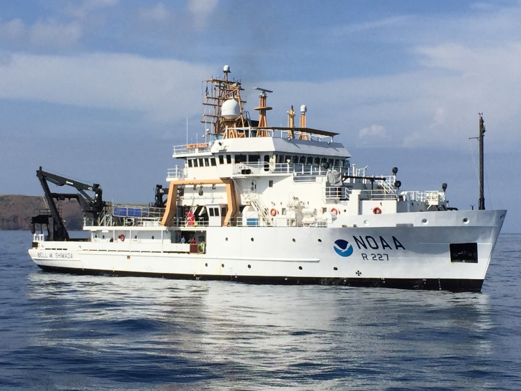 The NOAA Ship Bell Shimada was used to conduct seafloor mapping operations and ocean acidification research in the Channel Islands National Marine Sanctuary.
