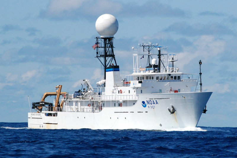 The NOAA Ship Okeanos Explorer is the only federally funded US ship assigned to systematically explore our largely unknown ocean for the purpose of discovery and the advancement of knowledge.
