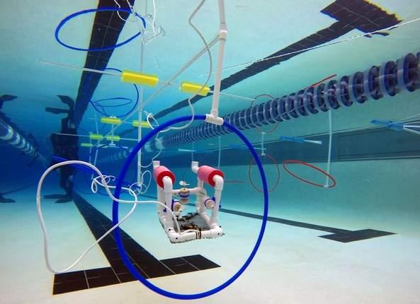 Underwater robot at 2015 SeaPerch Challenge