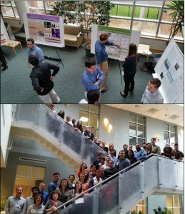 Poster session and attendees at Carolinas Chapter of Society of Environmental Toxicology and Chemistry in Raleigh, NC.