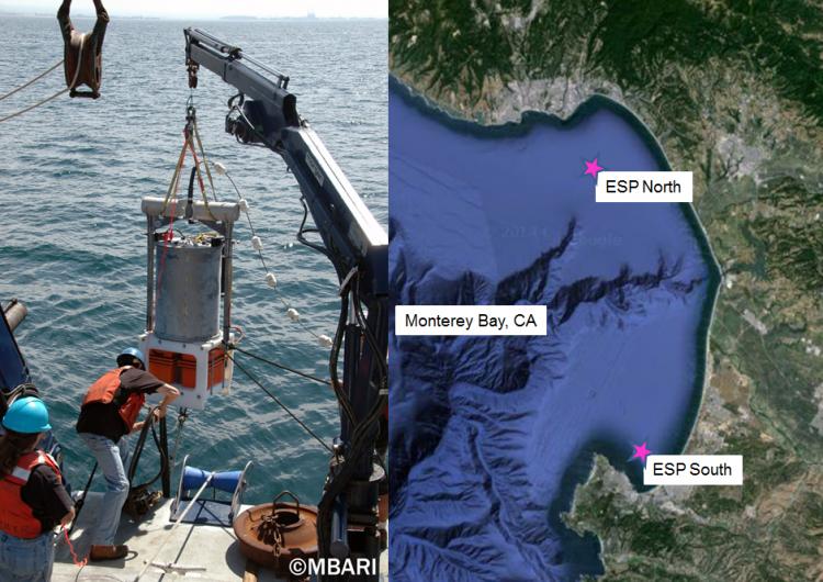 ESP. Monterey Bay map. MBARI