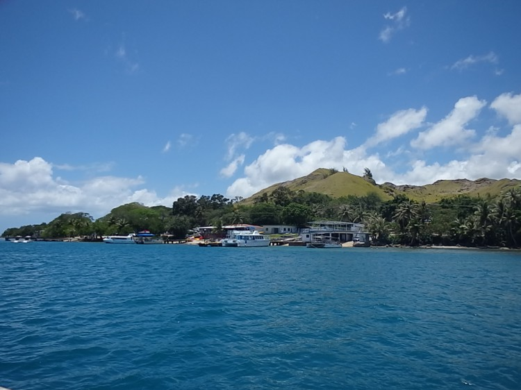 Ferry dock in the town of Merizo, Guam