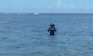 Jason Miller (University of Guam) on his way back from fishing