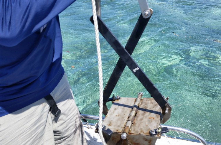PONAR grab used to collect the sediment samples