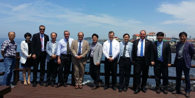 Meeting participants of the 8th annual Korea-U.S. Joint Coordination meeting for Aquaculture Cooperation in Jeju, Korea.