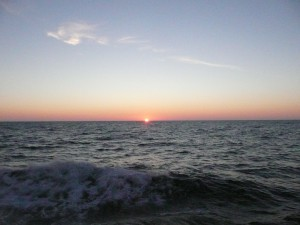 On the Bering Sea off of Alaska, the sun sets after 10:00 pm in August. Credit: NOAA