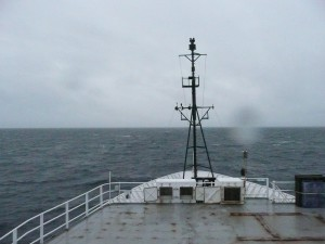The NOAA ship Ron Brown continues on as the Bering Sea weather takes a stormy turn. Credit: NOAA.