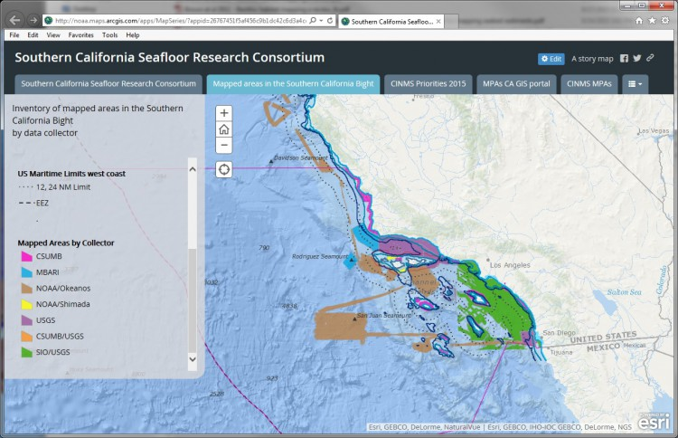 An inventory of existing seafloor data, along with current agency objectives, was used to highlight data gaps and direct new mapping efforts.