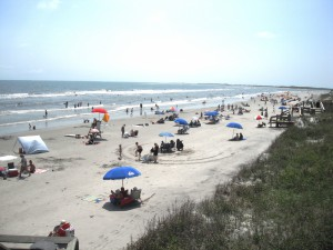 Warm weather brings increased recreational usage of SC beaches as well as increased application of sunscreen products.