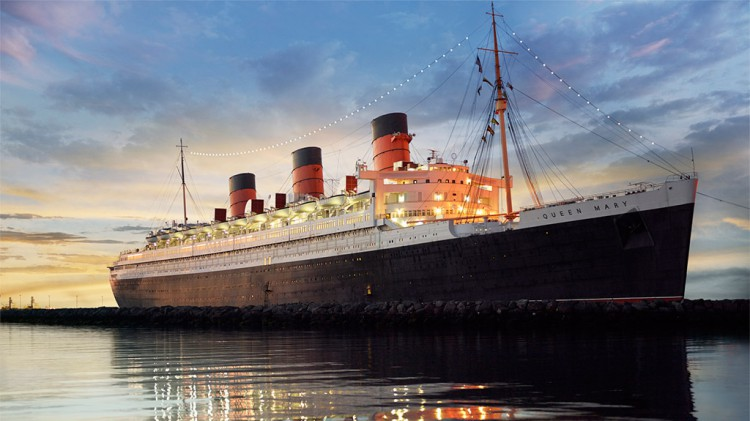 The legendary Cunard Liner Queen Mary, berthed at Long Beach, California, served as the venue for the Eighth Symposium on Harmful Algae in the United States. Photo credit The Queen Mary, Inc.