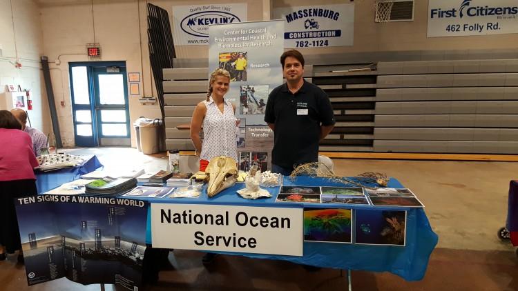 NOAA table at 2016 Fort Johnson Middle School Career Fair