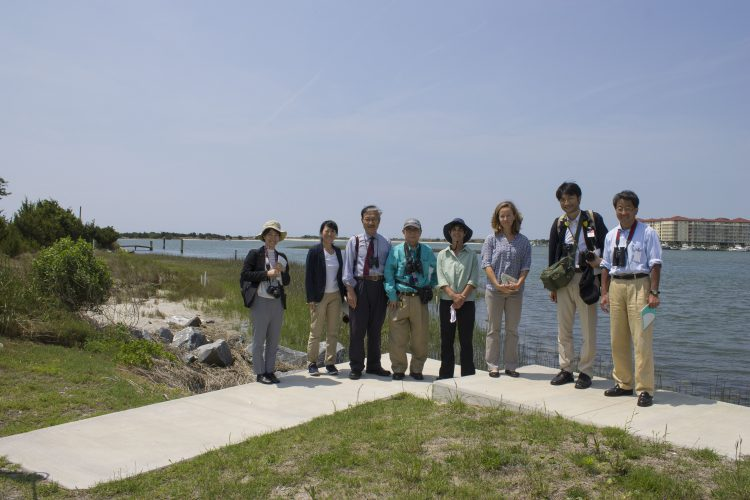 Members of the Ecosystem Conservation Society of Japan recently visited the NCCOS Lab in Beaufort, NC.
