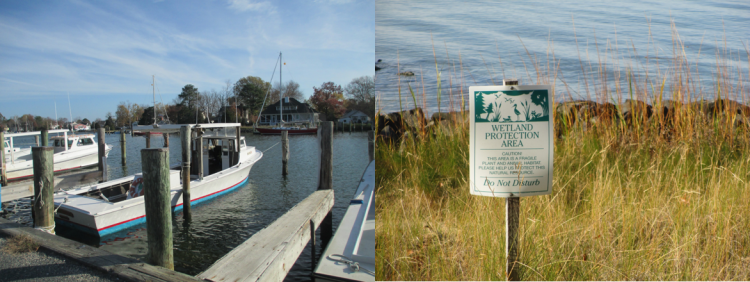 NCCOS social scientists work to assess the status of coastal and Great Lakes communities such as those along Chesapeake Bay pictured above.