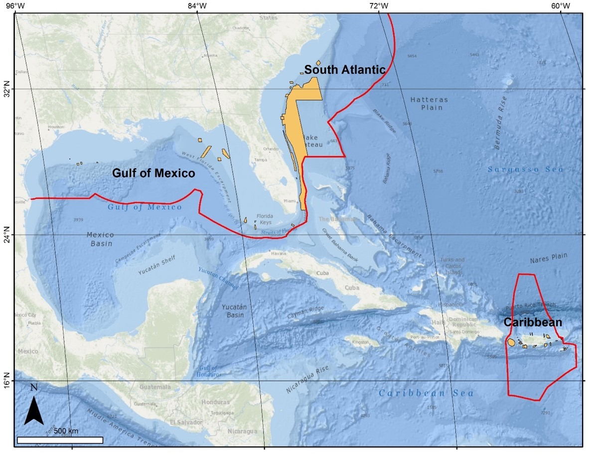 NCCOS To Lead DeepSea Coral Research Initiative In Southeast US - Map of cuba and southeast us
