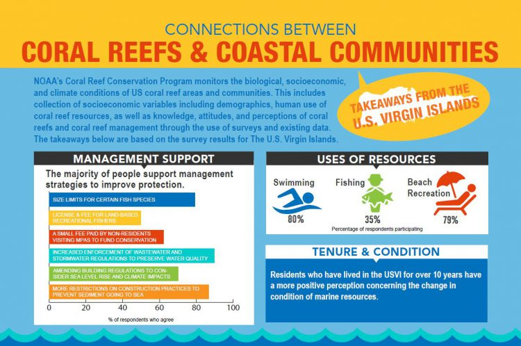 An excerpt of the newly released USVI socioeconomic coral infographic