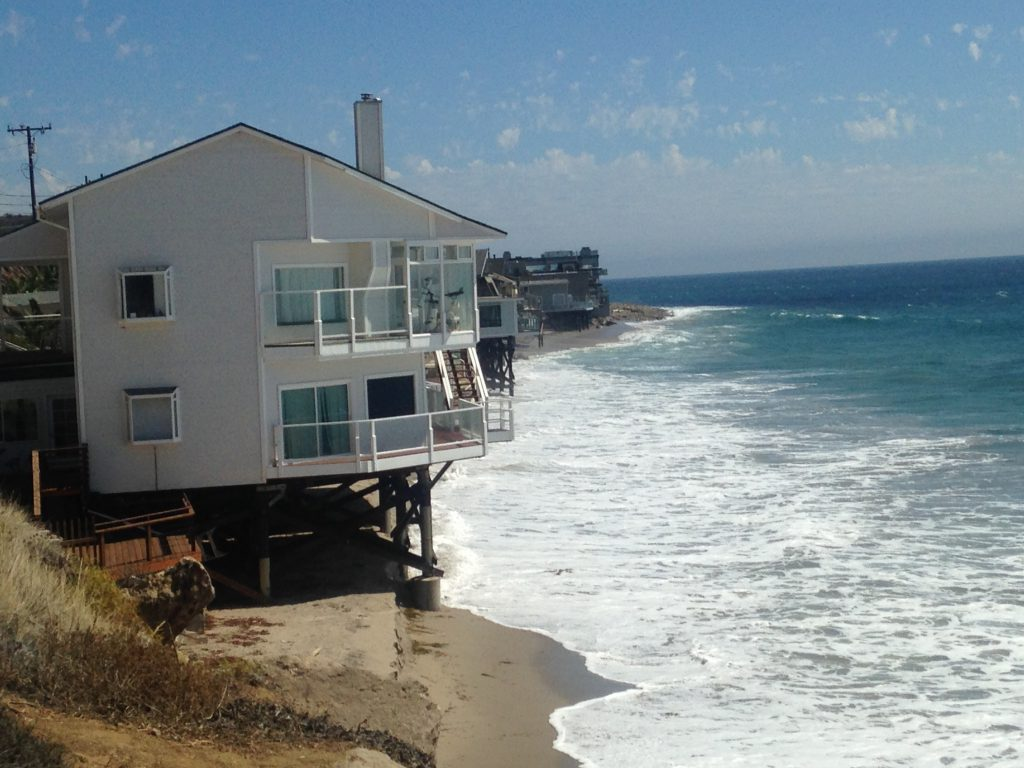 Los Angeles County coastal homes at risk from coastal flooding and erosion.