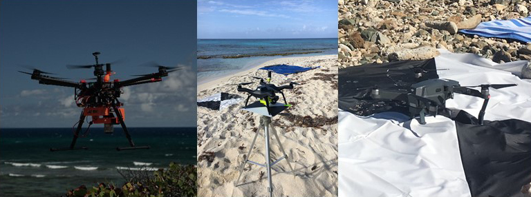 image of three drones tested in St Croix