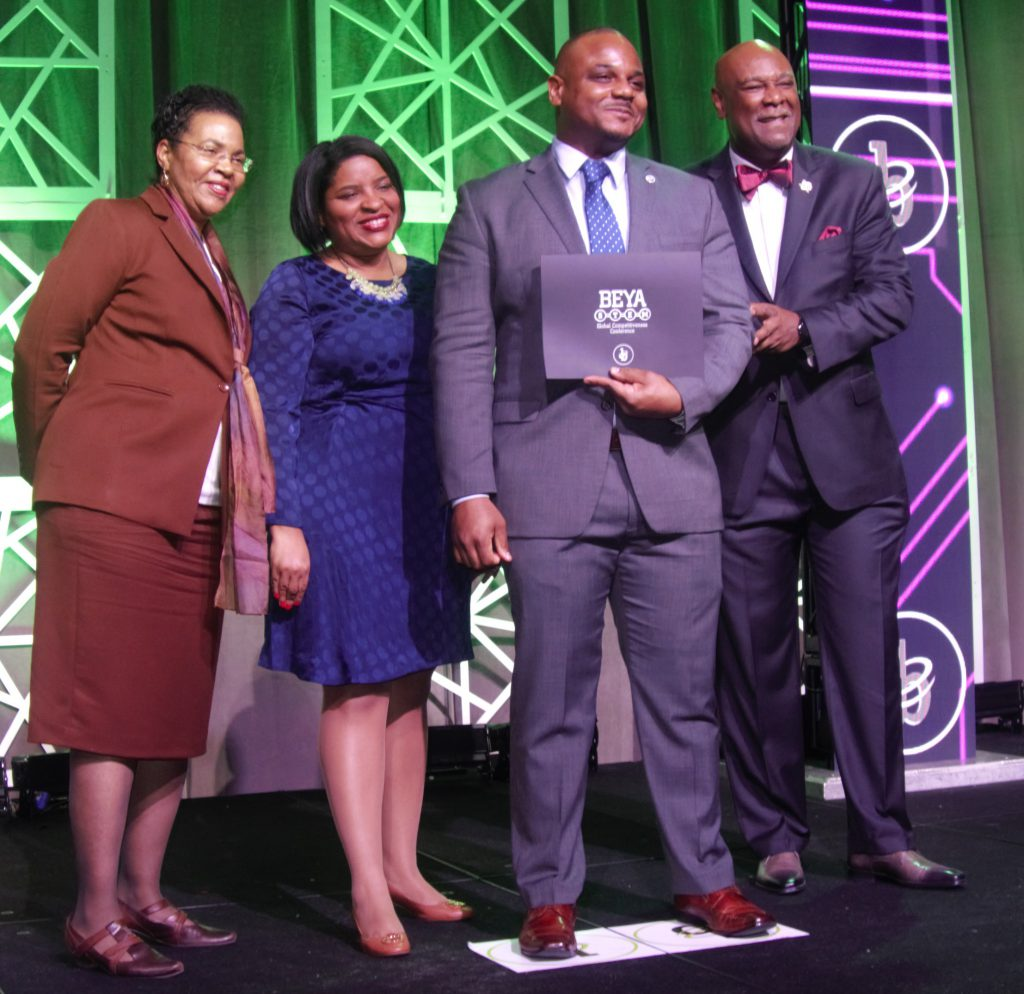 NCCOS's Dr. Lonnie Gonsalves receives the 2019 BEYA Modern-Day Technology Leader Award, which recognizes efforts in strengthening the science, technology, engineering, and mathematics (STEM) pipeline and a commitment to driving the science endeavors of their respective organizations.