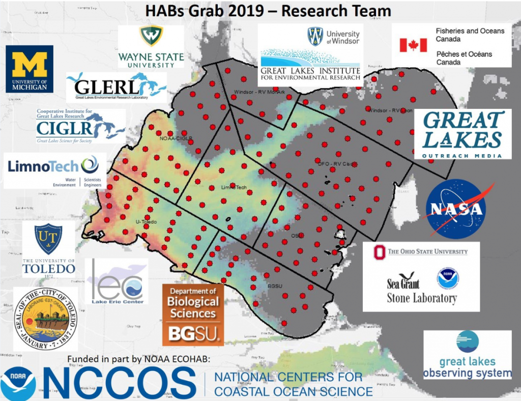 "NCCOS ""HABs Grab"" Takes One-Day Snapshot of Lake Erie's Harmful Algae"