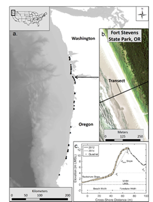 Field sampling will occur over the summer of 2020 at 15 coastal field sites (shown as black dots on map) in Oregon and Washington.