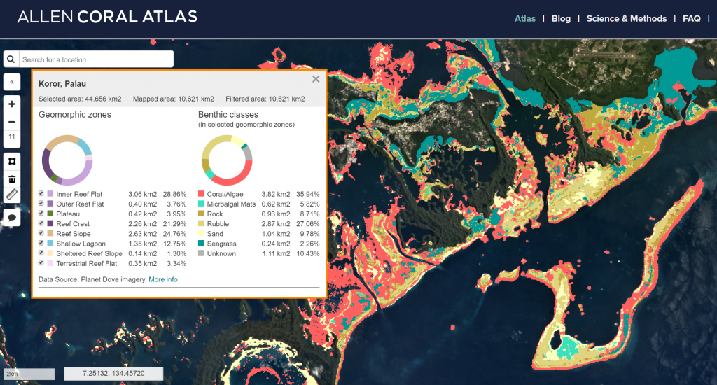 NCCOS Science Supports Creation of New Maps for Allen Coral Atlas