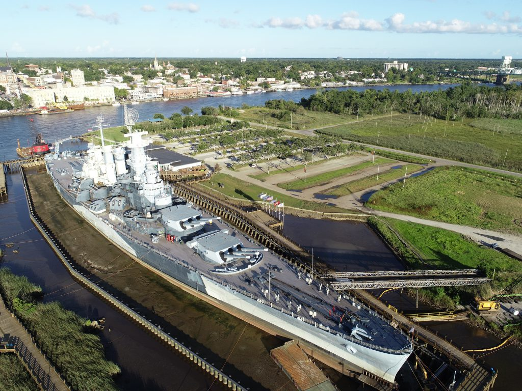 NCCOS Supports 'Living With Water' Resilience Project at Battleship NORTH CAROLINA