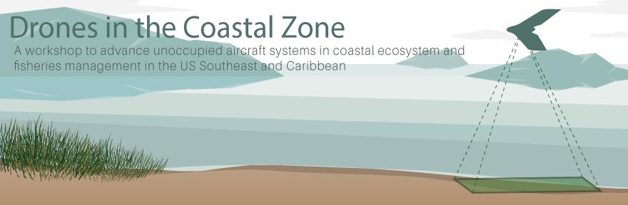 Drones in the Coastal Zone workshop banner