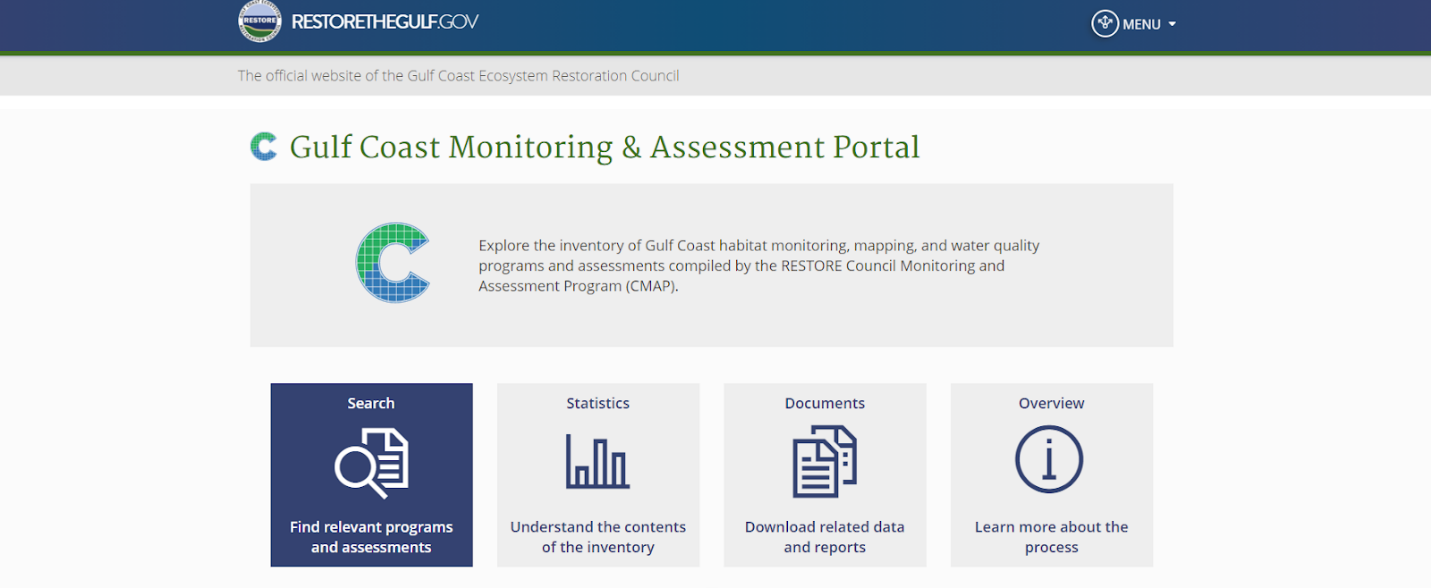 NCCOS, Partners Release New Gulf Coast Monitoring Decision Support Tool