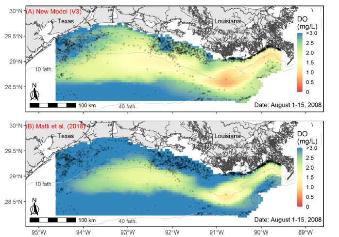Combining Geostatistical and Mechanistic Models Improves Hypoxia Predictions in Gulf of Mexico