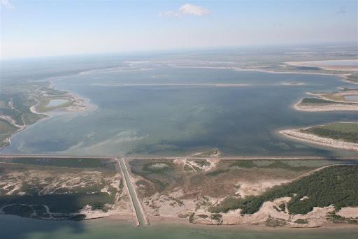 An aerial photo of the Bahia Grande